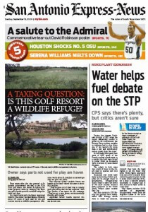PGA Front Page