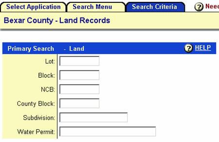 Bexar County Land Record Search