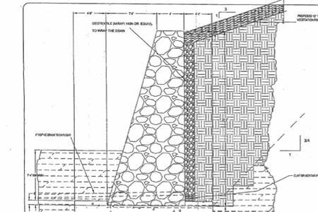 Engineering plans for retaining wall at the Hills of Rivermist