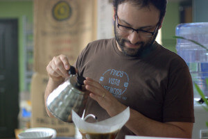 Aaron Blanco of Brown Coffee Co. in San Antonio