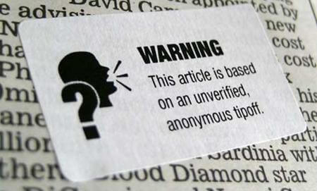 Journalism Warning Label
