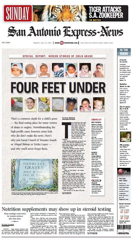 Four Feet Under Front Page San Antonio Express-News