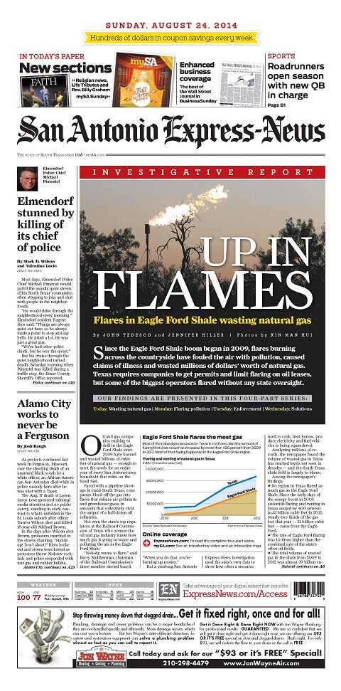 Up in Flames: Flaring in the Eagle Ford Shale