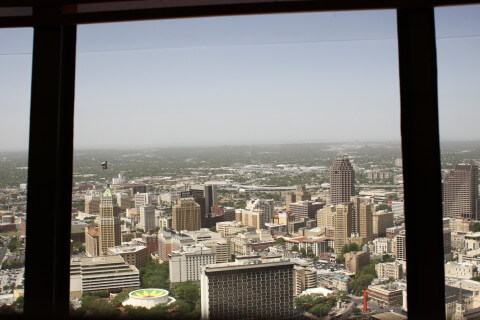 The view from the Tower of the Americas in San Antonio