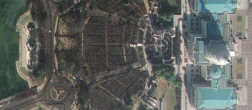 Satellite photos show impressive crowds on Inauguration Day