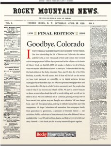 Why the death of a newspaper matters