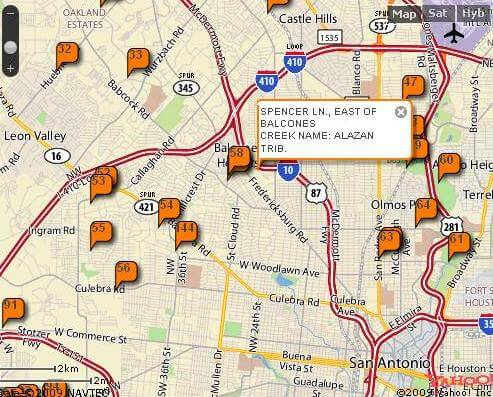 Interactive map of road closures and low-water crossings in Bexar County