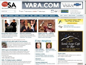 New home page of mySA.com