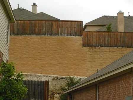 Encino Ridge retaining walls in San Antonio