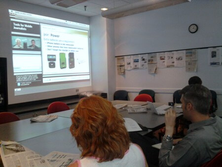 Webinar about mobile journalism at the San Antonio Express-News