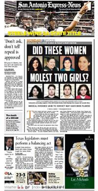 All four women — the aunt, Elizabeth Ramirez, her roommate Kristie Mayhugh and two friends, Anna Vasquez and Cassandra Rivera — were found guilty of aggravated sexual assault of a child and indecency with a child.