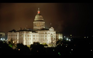 Tilt shift image of the Texas Capitol