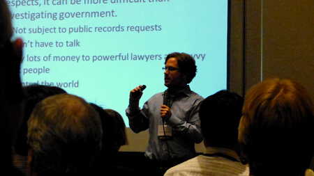 Wall Street Journal Reporter Rob Barry, speaking at the 2013 IRE conference